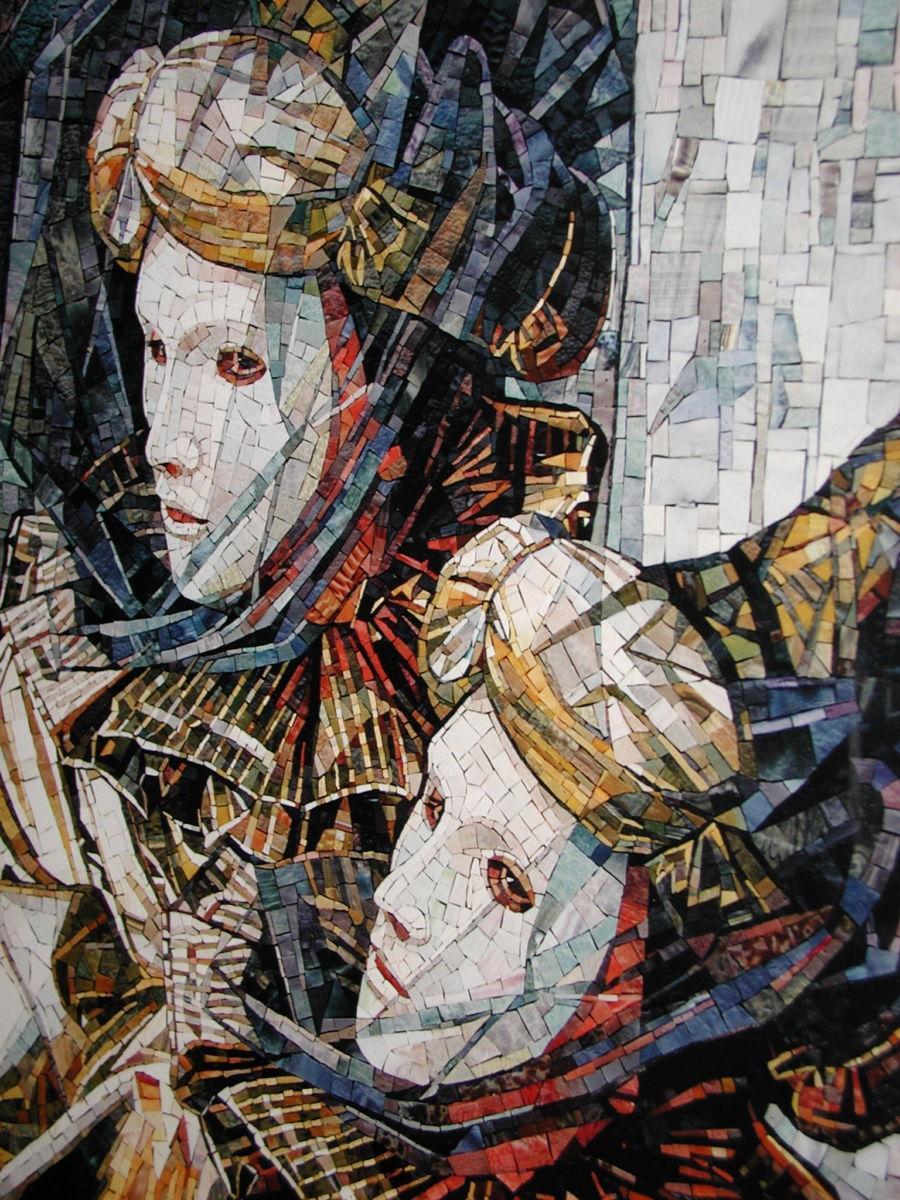 travisanutto mosaics maschere